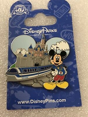 Disney Parks Mickey Mouse Disneyland Monorail Trading Pin 2012 Collectible 1 1/2