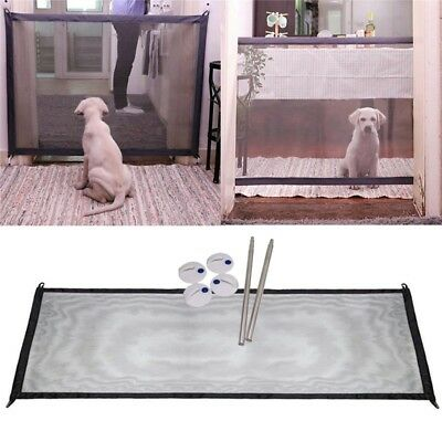 Magic Gate Portable Folding Safety Guard For Pets Dog Cat Isolated Gauze 11 L8P6