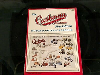 Vintage Cushman Motor Scooter  First Edition Scrapbook Magazine