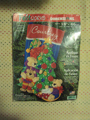 NEW Dimensions Christmas Felt Applique Holiday Stocking Kit