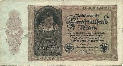 Germany 5000 mark 1922 P-78