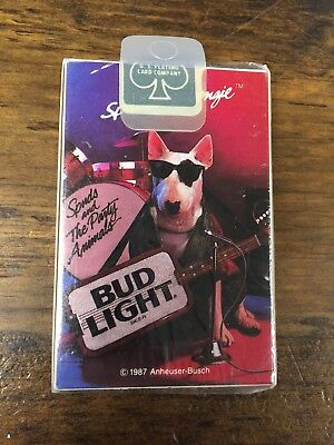Vintage 1987 Budlight Spuds Mackenzie Playing Cards NEW Sealed
