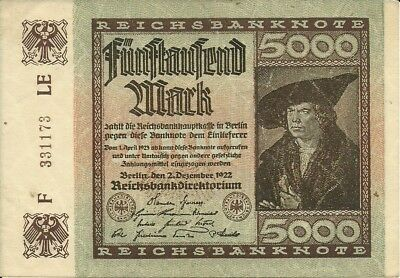 Germany 5000 Mark 1922  PICK-81