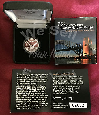 2007 $1 Silver Proof Coin 75th Anniversary of Sydney Harbour Bridge