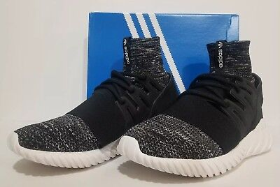 Adidas Originals Mens Tubular Doom PK Primeknit Glow Black Grey  BB2392 SZ. 10.5