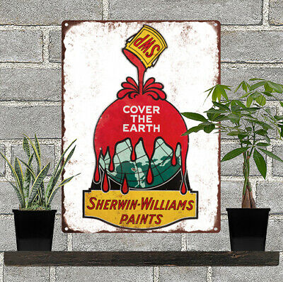 Sherwin Williams Paint  Vintage Look Advertising Metal Sign 9 x 12  60014