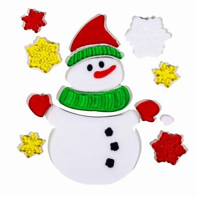 Christmas Window Glass Decorative Wall Stickers Cartoon Snowman Stickers &U#&