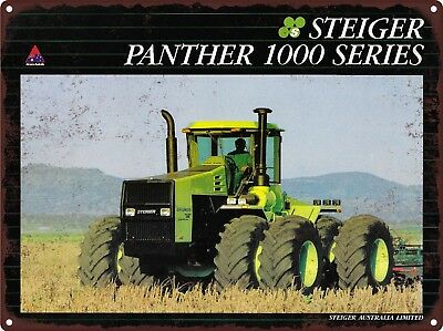 """STEIGER 4WD PANTHER 1000 SERIES Tractor Farm Man Cave Metal Sign 9x12"""" 60653"""