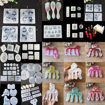DIY transparent silicone mold for jewelry pendant resin casting process tool
