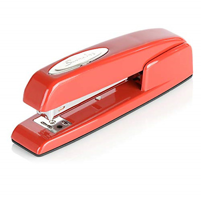 Swingline Stapler, 747 Iconic Desktop Stapler, 25 Sheet Capacity, Rio Red 74736
