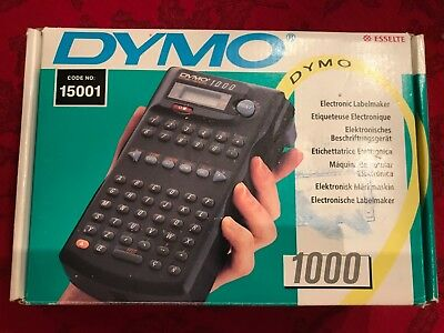 DYMO 1000 Electronic Labelmaker / Portable Battery Operated Label Maker NIB