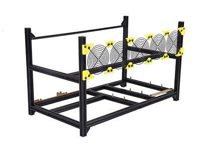 6 GPU Mining Case Rig Aluminum Stackable Preassembled Open Air Frame For Easy