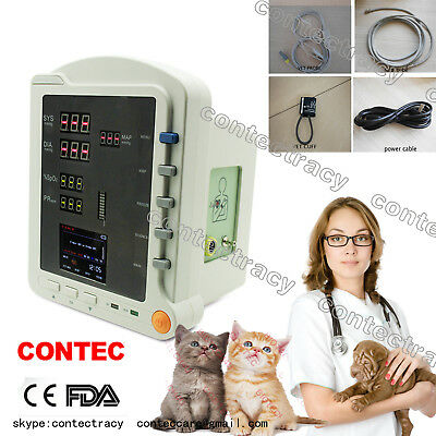 Portable Veterinary Patient Monitor NIBP SPO2 Pulse Rate for dog,cat,cow Animals