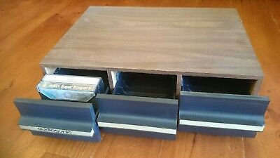 Retro 70's Audiosonic Cassette Tape Storage Drawers Holds 36 tapes VGC