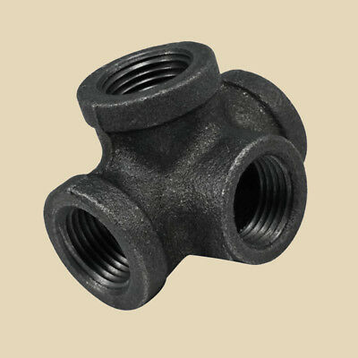 """NEW 3/4"""" Side Outlet THREADED TEE MALLEABLE IRON fitting pipe npt Female"""