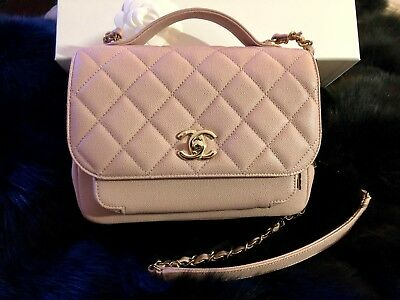 5cf4d8855cfd82 NEW Rare Caviar Leather Pink Chanel Business Affinity Flap Bag with Top  Handle