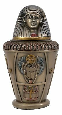 """5.75"""" Height Ancient Egyptian Imsety Canopic Jar Home Decor Collectible"""