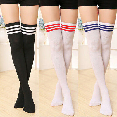 505acd3263509 Sexy Women Girls Long Striped Thigh High Stocking Anime Cosplay Over Knee  Socks