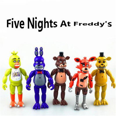 5 PCS Five Nights At Freddy's FNAF 6'' Action Figures With Light Toys Gifts