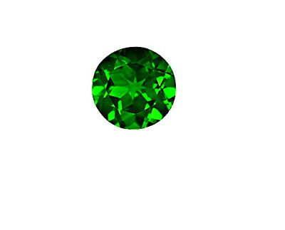 5 mm Round Fine Deep Rich Green Faceted AAA Chrome Diopside Gem