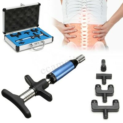 Portable Chiropractic Adjustable Tool Spine Back Activator Instrument 6 Levels