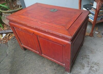 large wooden storage box