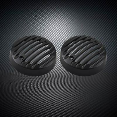 2x Black Protector Indicator Blinker Grill Covers For Royal Enfield Classic 500