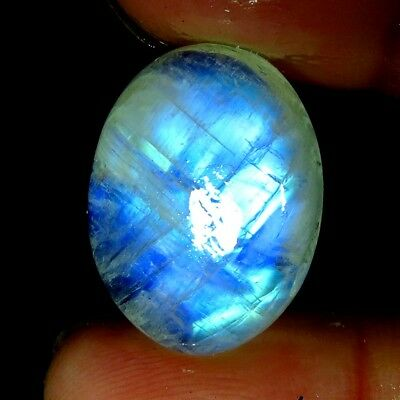 wow quality~19.40Cts.Natural Rainbow Moonstone Oval Cab ring size Gemstone