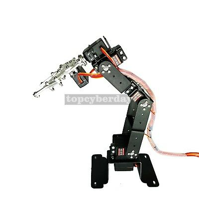 6DOF Mechanical Robot Arm Frame Clamp Claw Mount with Servos DIY Kit for Arduino