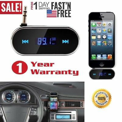 Car Kit LCD 3.5mm Handsfree FM Transmitter Modulator for iPhone Android Phone LG