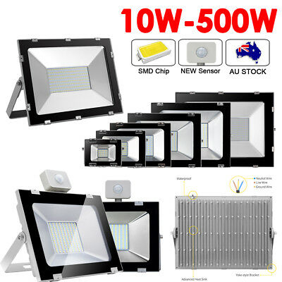 LED Flood Lights 500W 300W 200W 150W 100W 50W 30W 20W 10W Outdoor Security Lamp