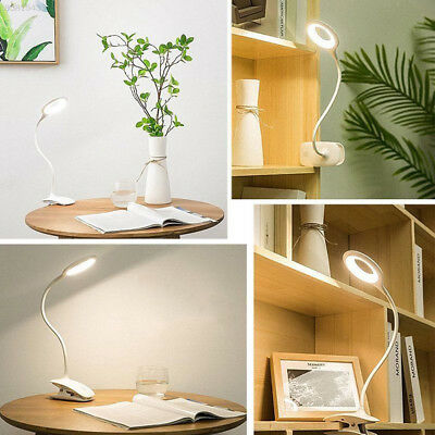TOP LED Desk Table Lamp USB Dimmable touch Switch Eye Care Reading Light Clamp