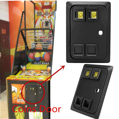 Arcade Or Pinball Game Machine Two Entry Coin Door Gate