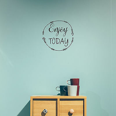 Enjoy Today - Wall Decal Home Decor Motivational Quote Wall Sticker Vinyl Boho