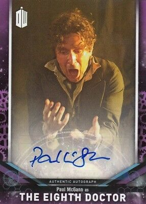 2018 Doctor Who Signature Series Paul McGann as the 8th Doctor Auto Card