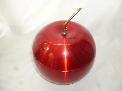 1960s VINTAGE MID CENTURY ANODISED RED DAYDREAM ICE BUCKET - very good cond.