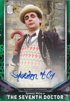 2018 Doctor Who Signature Series Sylvester McCoy as the 7th Doctor Auto Card /50