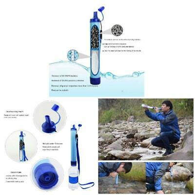 Water Purifier Camping Hiking Emergency Life Survival Portable Water Filter