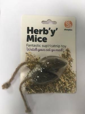 Sharples Ruff n Tumble Herby Catnip Mouse Mice Cat Toy Cats Kittens Toys