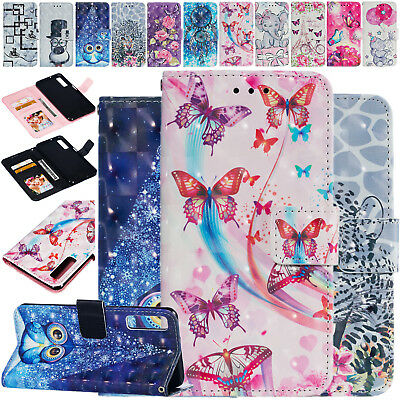 Flip Bling Pattern Leather Case Phone Cover For Samsung Galaxy A7 A6 A8+A9 2018