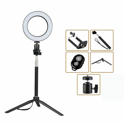 """6"""" LED Ring Light with Stand Dimmable LED Lighting Kit For Makeup Youtube Live"""