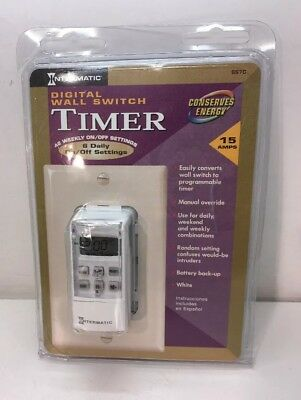 Intermatic SS7C DIGITAL 7 DAY PROGRAMMABLE WALL SWITCH TIMER