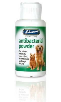 Johnsons Antibacterial Wound Powder for Dogs 20g Dog Antiseptic Soothing Wounds