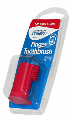 Hatchwells Dentifresh Soft Rubber Finger Toothbrush for Dogs and Cats