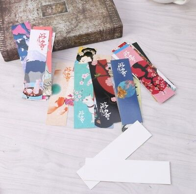 30Pcs/Bag Paper Bookmark Vintage Japanese Style Book Marks For Student School