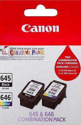 Genuine Canon CL-646 PG-645 Combination Pack