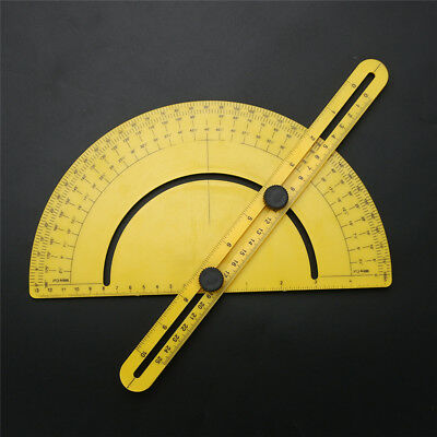 0-180 Degrees Angle Finder Plastic Protractor Goniometer Miter Gauge Woodworking