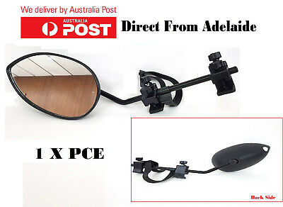 Towing Mirror Universal Easy Fit Attach to Existing Mirror Caravan Boat 4WD 1 PC