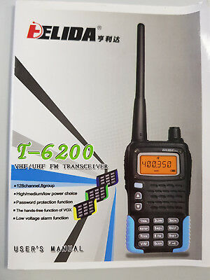 VHF / UHF FM Transceiver 2 x Walkie Talkies 128 Channels Intercom Simplex