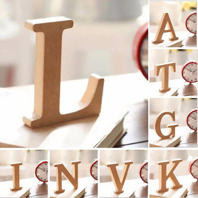 26 Wooden Large A-Z Wooden Letters Alphabet Freestanding Wedding Home Shop Decor